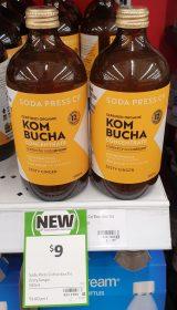 Soda Press Co 500mL Concentrate Kombucha Zesty Ginger