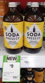 Soda Press Co 500mL Tonic Syrup Classic Indian Tonic