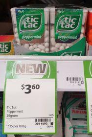 Tic Tac 49g Peppermint