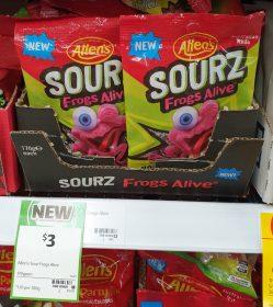 Allens 170g Sourz Frogs Alive