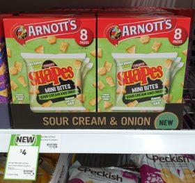 Arnotts 168g Shapes Mini Bites Sour Cream And Onion