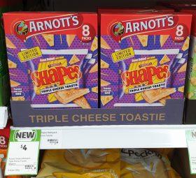 Arnotts 168g Shapes Mini Bites Triple Cheese Toastie