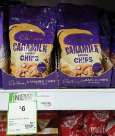Cadbury 260g Baking Chips Caramilk