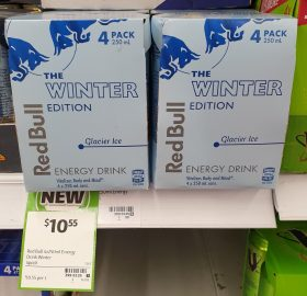 Red Bull 4 X 250mL Energy Drink The Winter Edition Glacier Ice