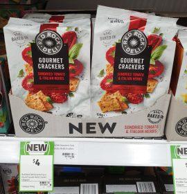 Red Rock Deli 130g Gourmet Crackers Sundried Tomato Italian Herbs
