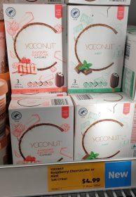 Aldi 270mL Yoconut Dairy Free Sticks Mint Raspberry Cheesecake Flavoured