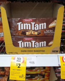 Arnotts 175g Tim Tam Dark Choc Banoffee Flavour