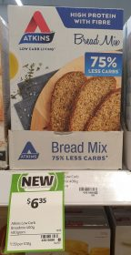 Atkins 400g Bread Mix 75 Less Carbs