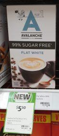 Avalanche 140g Sachets 99 Sugar Free Flat White