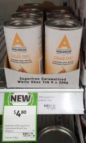 Avalanche 200g Sugar Free Drinking Chocolate Caramelised White