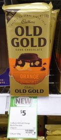 Cadbury 170g Dark Chocolate Old Gold Orange