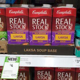 Campbells 1L Real Stock Malaysian Laksa Base