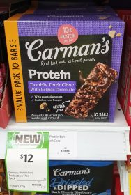 Carmans 400g Bars Double Dark Choc Protein