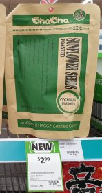 ChaCha 228g Sunflower Seeds Roasted Coconut Flavour