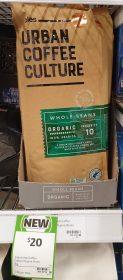 Coles 1kg Urban Coffee Culture Whole Beans Organic