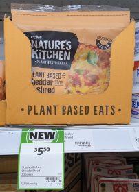 Coles 200g Natures Kitchen Plant Based Eats Cheddar Shred