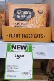 Coles 200g Natures Kitchen Plant Based Eats Cheddar Slices