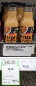 Coles 250g Marinade Satay With Roasted Peanuts