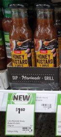 Coles 275g Marinade Honey Mustard Garlic
