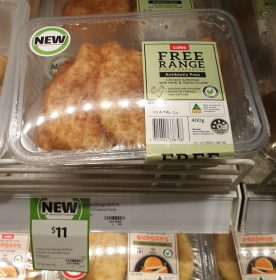 Coles 400g Free Range Chicken Schnitzel With Herb Garlic Crumb