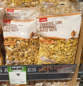 Coles 400g Mixed Nuts Turmeric Lime Coconut