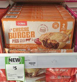 Coles 400g Pies Cheeseburger 1
