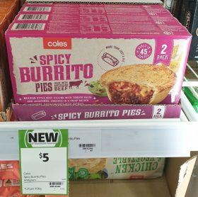 Coles 400g Pies Spicy Burrito 1