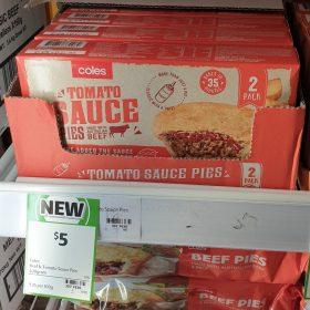 Coles 400g Pies Tomato Sauce 1