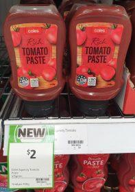 Coles 415g Tomato Paste Rich