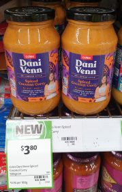 Coles 500g Dani Venn Spiced Coconut Curry