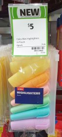Coles 6 Pack Highlighters