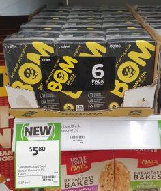 Coles 6 X 250mL BOM Banana Flavour
