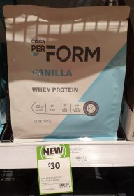 Coles 750g PerForm Whey Protein Vanilla Flavour