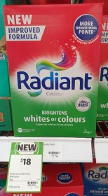 Cussons 2kg Radiant Laundry Powder Whites Or Colours