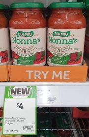 Dolmio 500g Nonnas Pasta Sauce Capsicum Chargilled