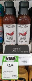 F Whitlock Sons 250mL Sauce Chipotle BBQ
