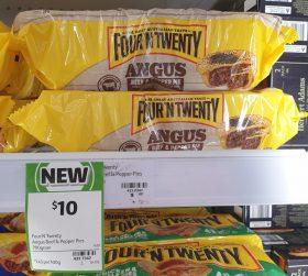 Four N Twenty 700g Pie Angus Beef Pepper 1