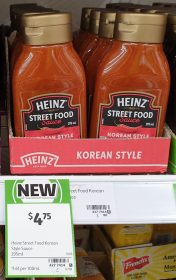 Heinz 295mL Sauce Street Food Korean Style