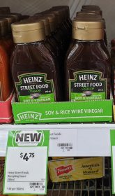 Heinz 295mL Sauce Street Food Soy Rice Wine Vinegar