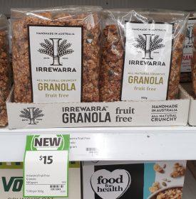Irrewarra 500g Granola Fruit Free