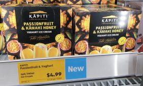 Kapiti 360mL Yoghurt Ice Cream Sticks Passionfruit Kamahi Honey
