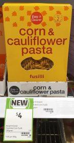 Keep It Cleaner 250g Pasta Fusilli Corn Cauliflower