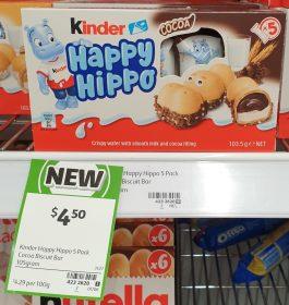 Kinder 103.5g Happy Hippo Cocoa 1