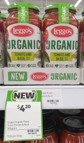 Leggos 500g Pasta Sauce Organic Tomato And Basil