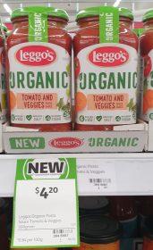 Leggos 500g Pasta Sauce Organic Tomato And Veggies