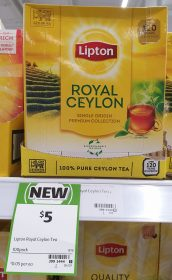 Lipton 100 Pack Tea Royal Ceylon