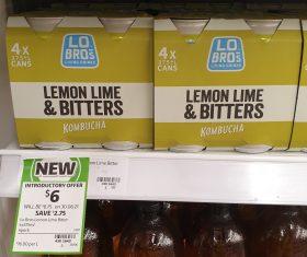 Lo Bros 4 X 375mL Kombucha Lemon Lime Bitters