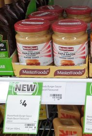 MasterFoods 220mL Burger Sauce Maple Bacon Flavoured