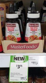 MasterFoods 250mL Sauce Thai Style Sriracha