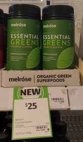 Melrose 120g Superfoods Blend Essential Greens Pineapple Flavour